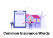 Image showing common insurance words